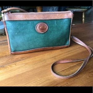 Green and Brown Leather Dooney and Bourke Purse
